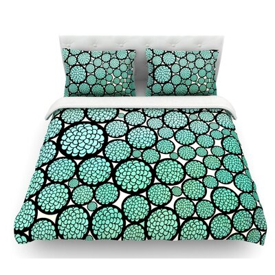 Blooming Trees by Pom Graphic Design Circles Featherweight Duvet Cover Size: Queen