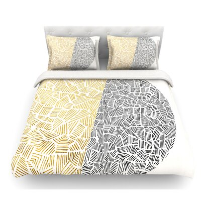 Inca Day and Night by Pom Graphic Design Featherweight Duvet Cover Size: Twin