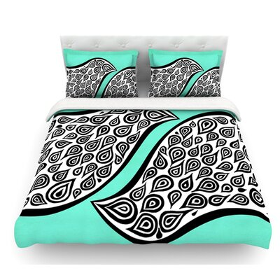 Two Romantic Birds by Pom Graphic Design Abstract Featherweight Duvet Cover Size: King