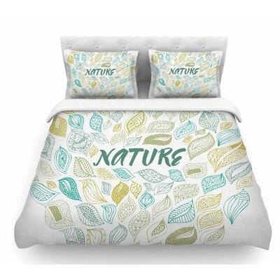 Nature Earth by Pom Graphic Design Featherweight Duvet Cover Size: Twin