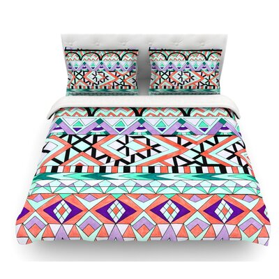Tribal Invasion by Pom Graphic Design Abstract Featherweight Duvet Cover Size: King