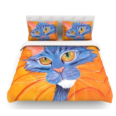 Tell Me More by Padgett Mason Featherweight Duvet Cover Size: Twin
