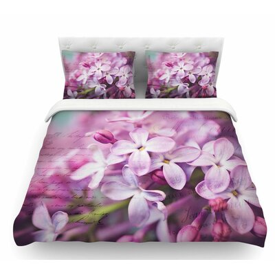 French Lilacs by Sylvia Cook Featherweight Duvet Cover Size: Twin