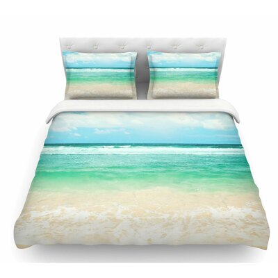 Endless Sea by Sylvia Cook Coastal Featherweight Duvet Cover Size: King