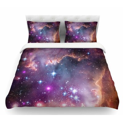 Cosmic Cloud by Suzanne Carter Celestial Featherweight Duvet Cover Size: King