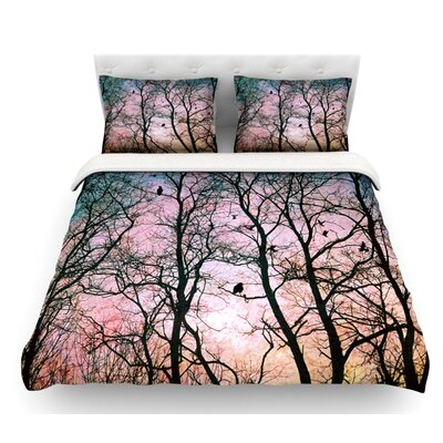 The Birds by Sylvia Cook Featherweight Duvet Cover Size: Twin