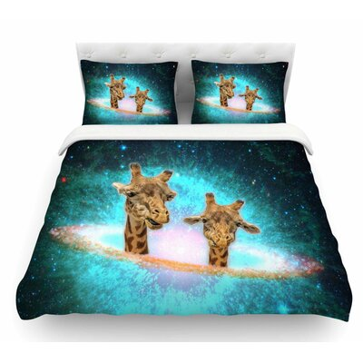 Fred and Larry by Suzanne Carter Fantasy Featherweight Duvet Cover Size: King