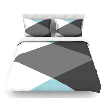 Diamonds by Suzanne Carter Featherweight Duvet Cover Size: Twin
