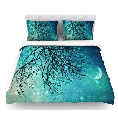 Winter Moon by Sylvia Cook Featherweight Duvet Cover Size: King