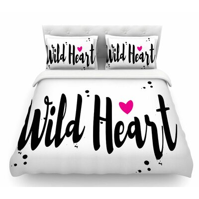 Wild Heart2 by Suzanne Carter Digital Featherweight Duvet Cover Size: King