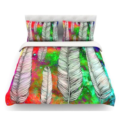 Feather by Suzanne Carter Rainbow Space Featherweight Duvet Cover Size: Queen
