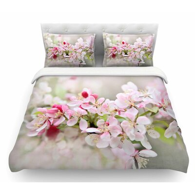 April Flowers by Sylvia Cook Featherweight Duvet Cover Size: King