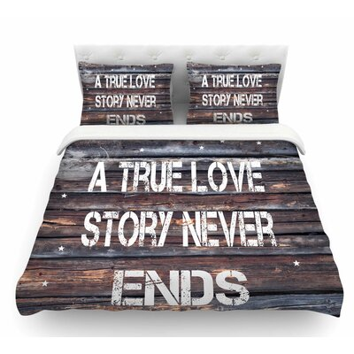 True Love by Suzanne Carter Contemporary Featherweight Duvet Cover Size: Twin