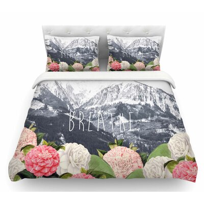 Breathe by Suzanne Carter Floral Landscape Featherweight Duvet Cover Size: King