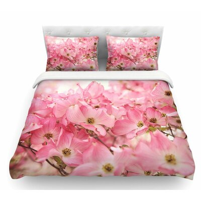 Dogwood by Sylvia Cook Floral Featherweight Duvet Cover Size: King