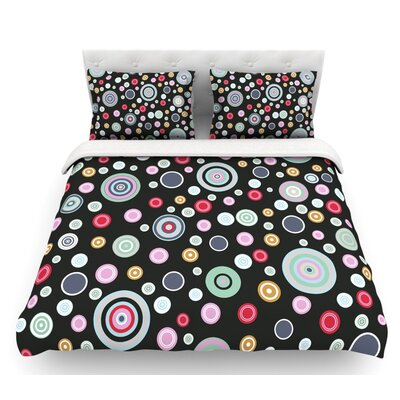 Circle Circle II by Suzanne Carter Featherweight Duvet Cover Size: King