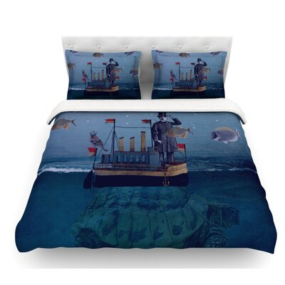 The Voyage by Suzanne Carter Featherweight Duvet Cover Size: Queen