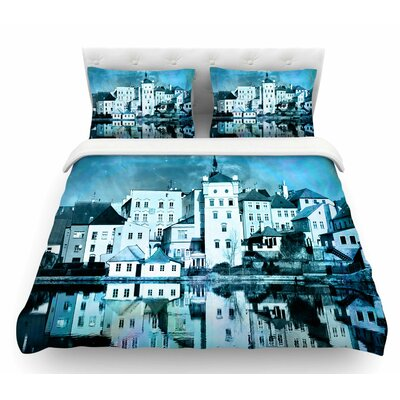 Night Sky by Suzanne Carter Featherweight Duvet Cover Size: Queen