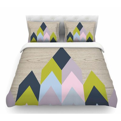Woodgrain by Suzanne Carter Geometric Featherweight Duvet Cover Size: Queen