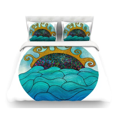 Oceania by Pom Graphic Design Featherweight Duvet Cover Size: Queen