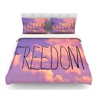 Freedom by Rachel Burbee Featherweight Duvet Cover Size: Twin