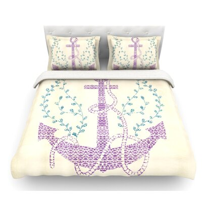 Tribal Nautica II by Pom Graphic Design Featherweight Duvet Cover Size: Twin