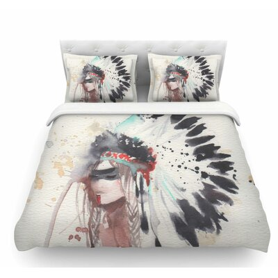 Warrior Bride by Rebecca Bender Featherweight Duvet Cover Size: Twin