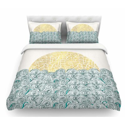 Sunny Tribal Seas II by Pom Graphic Design Ocean Featherweight Duvet Cover Size: Twin