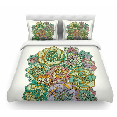 Succulent Love by Pom Graphic Design Featherweight Duvet Cover Size: Queen