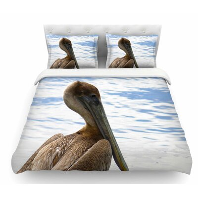 Pelican Waiting by Philip Brown Featherweight Duvet Cover Size: Queen
