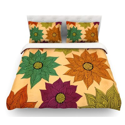 Color Me Floral by Pom Graphic Design Featherweight Duvet Cover Size: Twin