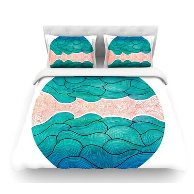 Ocean Flow by Pom Graphic Design Featherweight Duvet Cover Size: Queen