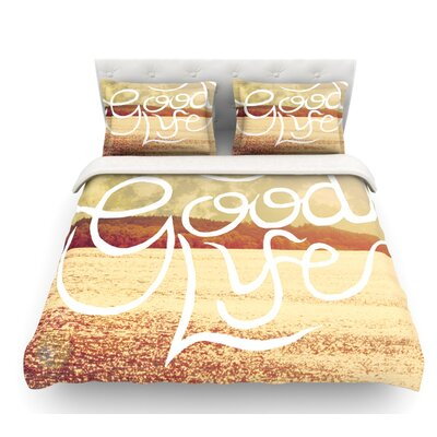 Good Life by Rachel Burbee Featherweight Duvet Cover Size: Twin