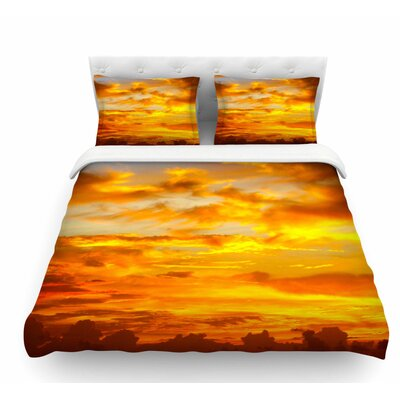 Painted Sunset by Philip Brown Featherweight Duvet Cover Size: Queen