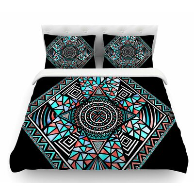 Geo Glass by Pom Graphic Design Featherweight Duvet Cover Size: Queen