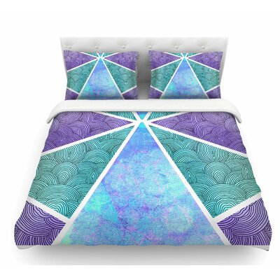 Reflective Pyramids by Pom Graphic Design Featherweight Duvet Cover Size: Twin