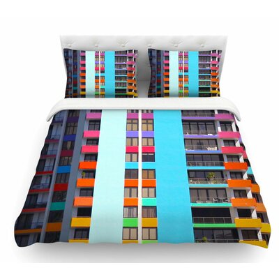 The Rainbow Building by Philip Brown Modern Featherweight Duvet Cover Size: Queen