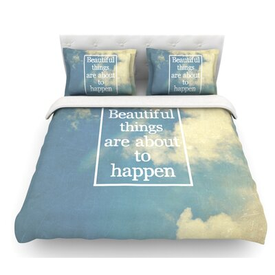 Beautiful Things by Rachel Burbee Sky Clouds Featherweight Duvet Cover Size: Queen