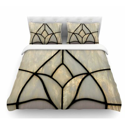 Tulip Stained Glass by Philip Brown Floral Digital Featherweight Duvet Cover Size: Twin