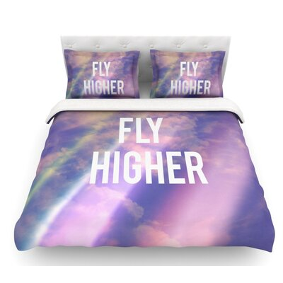 Fly Higher by Rachel Burbee Featherweight Duvet Cover Size: Queen