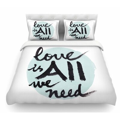 Love is All We Need by Qing Ji Featherweight Duvet Cover Size: Twin