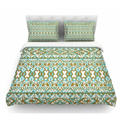 Tribals by Pom Graphic Design Featherweight Duvet Cover Size: King