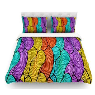Textiles by Pom Graphic Design Featherweight Duvet Cover Size: Queen