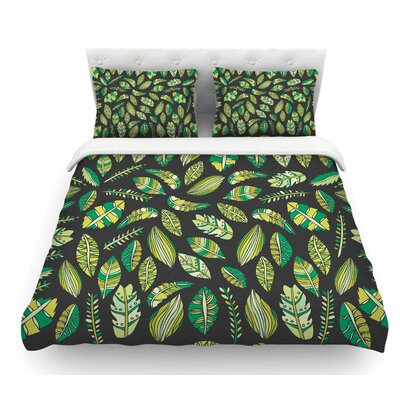 Tropical Botanicals 2 by Pom Graphic Design Nature Featherweight Duvet Cover Size: Queen