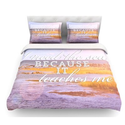I Need the Sea by Rachel Burbee Featherweight Duvet Cover Size: Twin