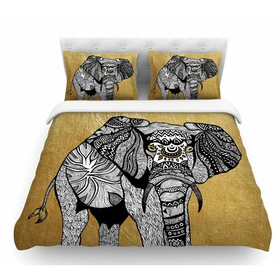 Elephant by Pom Graphic Design Featherweight Duvet Cover Size: Twin