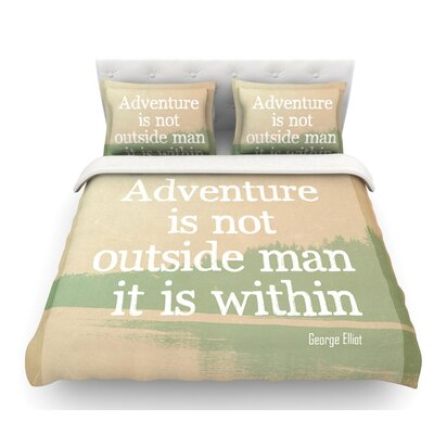Adventure by Rachel Burbee Nature Featherweight Duvet Cover Size: Twin