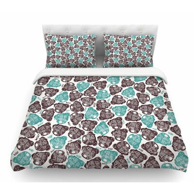 The Barking Pug by Pom Graphic Design Featherweight Duvet Cover Size: Twin