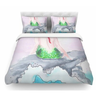 Longing to be Free by Rebecca Bender Fantasy Featherweight Duvet Cover Size: Queen