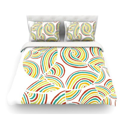 Rainbow Sky by Pom Graphic Design Featherweight Duvet Cover Size: Twin